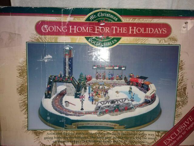 Mr. Christmas Going Home For The Holidays Animated Train Set Music Lights