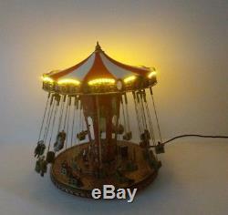 Mr Christmas Gold Label 79841 WORLD'S FAIR SWING CAROUSEL in Orig Box