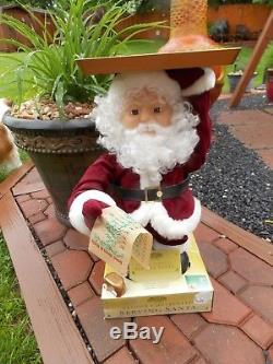 Mr. Christmas Gold Label Collection Remote Controlled Serving Santa NEW RARE