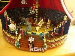 Mr Christmas Gold Label Collection WORLD'S FAIR BIG TOP Lights Animated Musical