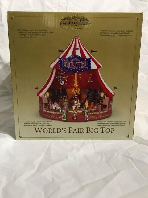 Mr. Christmas Gold Label Collection Worlds Fair Big Top Circus New In Box
