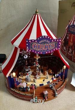 Mr Christmas Gold Label World's Fair Big Top Animated Musical Circus