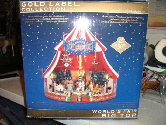 Mr. Christmas Gold Label World's Fair Big Top Circus Action/lites 30 Tune Musical