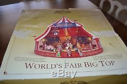 Mr. Christmas Gold Label World's Fair Big Top Circus Tent Worlds Animated Music