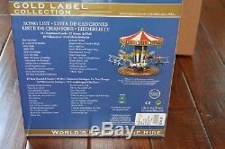 Mr Christmas Gold Label World's Fair Biplane Ride Music Box 50 Songs, RARE NIB
