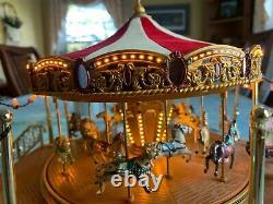 Mr Christmas Gold Label World's Fair Boardwalk Carousel 2012