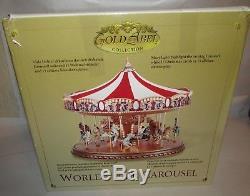 Mr Christmas Gold Label World's Fair Carousel IOB