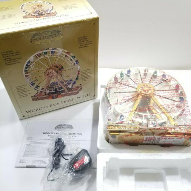 Mr. Christmas Gold Label World's Fair Ferris Wheel Plays 15 Christmas Songs
