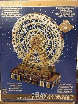 Mr. Christmas Gold Label World's Fair Grand Ferris Wheel NEW 79791