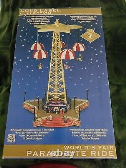 Mr Christmas Gold Label World's Fair Parachute Ride Brand New in Sealed Box
