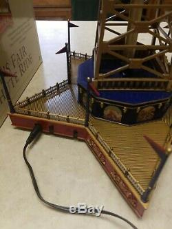 Mr. Christmas Gold Label World's Fair Parachute Ride Lights/music/movement