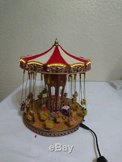 Mr. Christmas Gold Label World's Fair Swing Carousel PLEASE SEE THE VIDEO & DETA