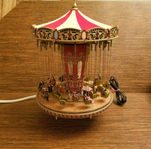 Mr Christmas Gold Label World's Fair Swing Carousel Plays 30 Songs Works Great