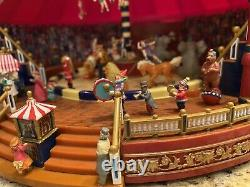 Mr Christmas Gold Label Worlds Fair Big Top Circus Animated Music Box VIDEO