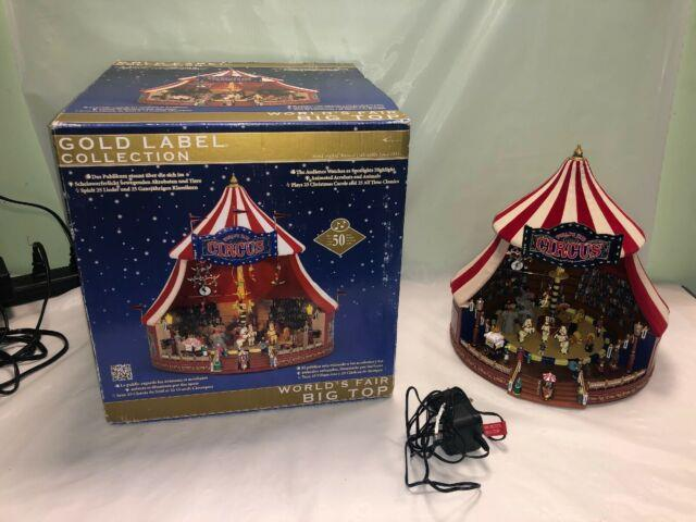 Mr. Christmas Gold Label Worlds Fair Big Top Circus Lights Music & Animation