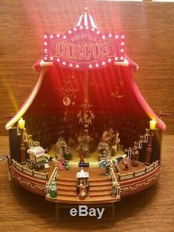 Mr Christmas Gold Label Worlds Fair Big Top Circus Lights Music Animation FLAWS