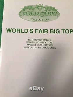 Mr Christmas Gold Label Worlds Fair Big Top Circus Tent Worlds Animated Music