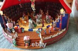 Mr Christmas Gold Label Worlds Fair Big Top Circus tent Lights Animated Musical