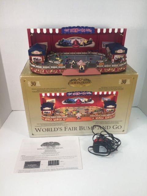 Mr Christmas Gold Label Worlds Fair Bump And Go Ride Lights Music Animated Box