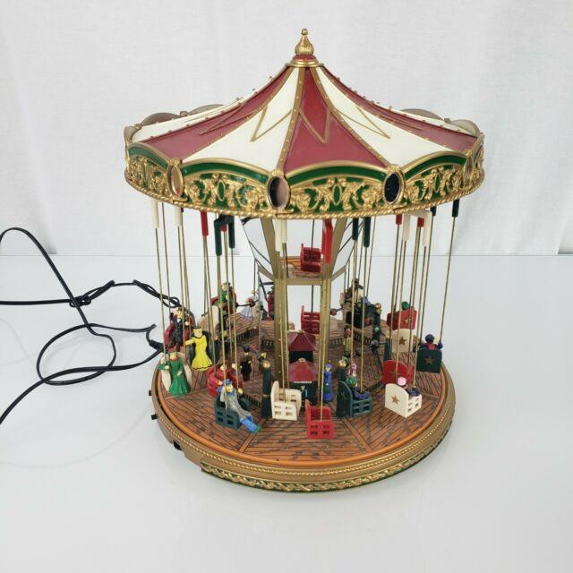 Mr Christmas Gold Label Worlds Fair Carousel 30 Songs Musical Animated Lights