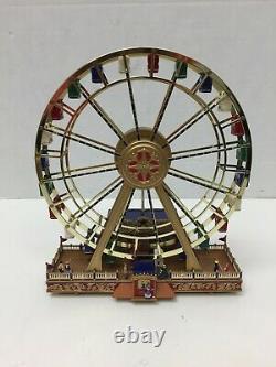 Mr Christmas Gold Label Worlds Fair Ferris Wheel 2002 Works READ VIDEO