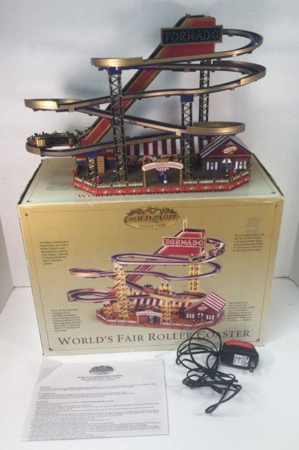 Mr Christmas Gold Label Worlds Fair Roller Coaster Lights Music Box Read