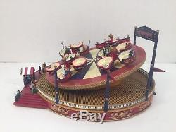 Mr Christmas Gold Label Worlds Fair Roundabout Lights Music Animated Box