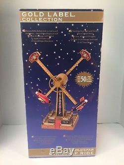 Mr Christmas Gold Label Worlds Fair Starship Ride Lights Music Box READ