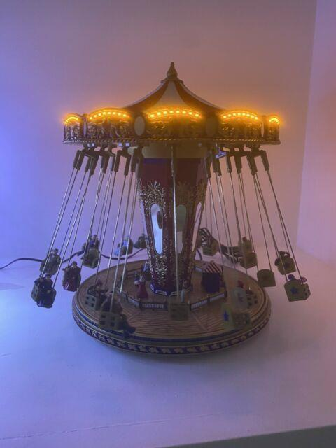 Mr. Christmas Gold Label Worlds Fair Swing Carousel Lights Music Working In Box