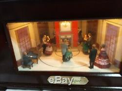 Mr Christmas Harmonique animated Victorian Ballroom Music Box 16 Discs
