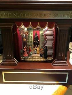 Mr. Christmas Heirloom Nutcracker Suite Lights/Moving Ballet Music Box VIDEO