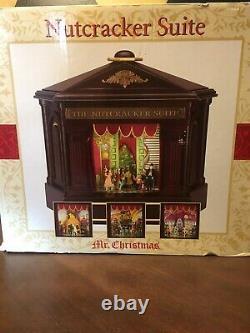 Mr. Christmas Heirloom Nutcracker Suite Lights Moving Ballet Music Box Works