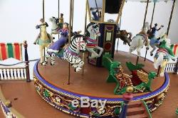 Mr Christmas Holiday Around The Carousel Plays 16 Songs Light Up and Turns