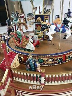 Mr. Christmas Holiday Around the Carousel 2003 Animated Musical Carousel