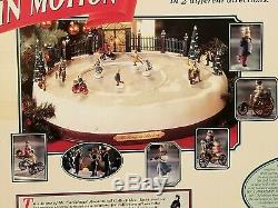 Mr. Christmas Holiday In Motion Ice Skating Rink Pond Victorian Skaters Musical