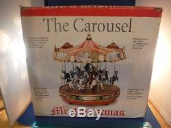 Mr Christmas Holiday Lights & Murals Carousel (15 Carols& 15 Tunes)Music Box MIB