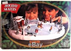Mr. Christmas Holiday Skaters Victorian Ice Skating Scene Mint Tested Working