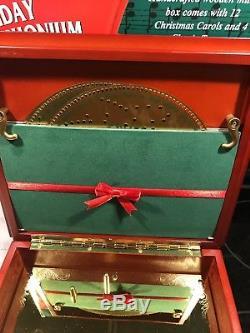 Mr Christmas Holiday Symphonium Wooden Music Box Plays 16 Christmas Carols Songs