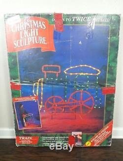Mr Christmas Light Sculpture Train Rare Outdoor Decoration Vintage 1995 Holiday