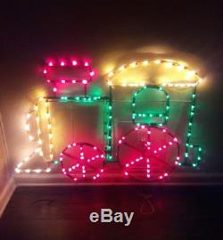 Mr christmas light sculpture train rare outdoor decoration vintage mr christmas light sculpture train rare outdoor decoration vintage 1995 holiday aloadofball Image collections