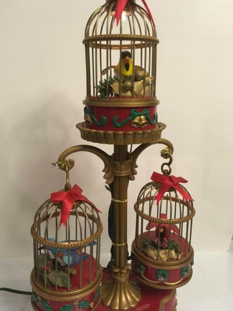Mr Christmas Lighted Holiday Song Birds Birds Move Music Box
