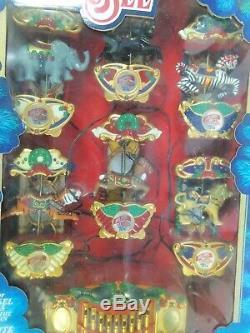 Mr. Christmas Lighted Musical Holiday Carousel Circus Animals