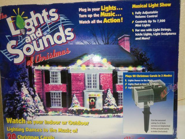 Christmas items mr christmas lights and sounds of christmas musical light show 20 xmas carols aloadofball Image collections