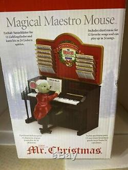 Mr Christmas Magical Maestro Mouse 2013 Animated Musical