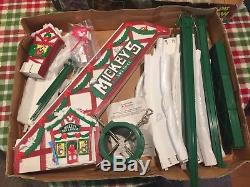 Mr. Christmas Mickey's Ski Slope Vintage With 4 Ski Figures See Photos