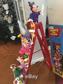 Mr Christmas Mickey's Tree Trimmers 1993 original box MINNIE DONALD PLUTO GOOFY