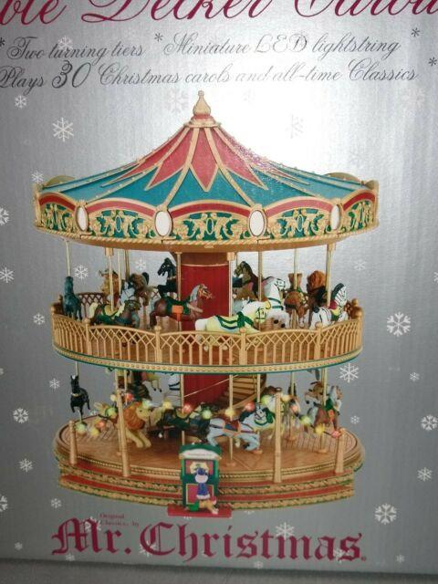 Mr. Christmas Musical Animated Double Decker Carousel