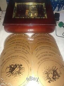 Mr. Christmas Musical Bell Symphonium Music Box W 16 Discs
