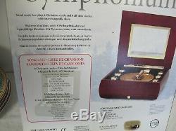 Mr Christmas Musical Bell Symphonium Wood Music Box 16 Disc In Box