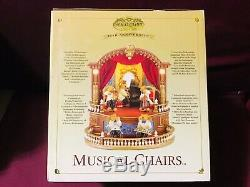 Mr Christmas Musical Chairs Bear Orchestra 75th Anniversary Gold Label Rare/HTF